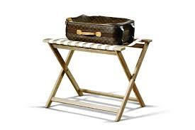 leather luggage rack