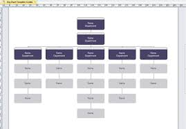 Org Chart Excel Template 40 Organizational Templates Word Powerpoint