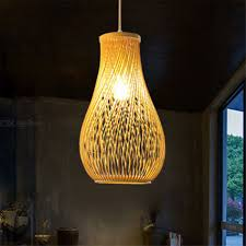 Ywxlight Creative Bamboo Pendant Light Home Living Room Decorative Ceiling Lamp