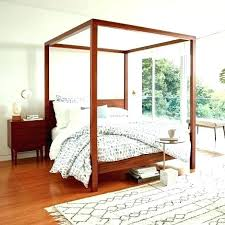 Black Wood Canopy Bed Full Size Canopy Bed Frame Bailey Charcoal ...