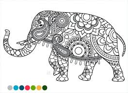 Elephant Color Page Elephant Coloring Pages Kids Elephant Mandala