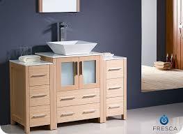 discount bathroom vanity lights. fresca torino light oak modern bathroom vanity w/ side cabinet \u0026 vessel sink discount lights