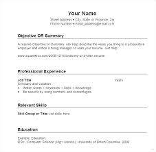 How To Make A Resume For A Highschool Student Enchanting Examples Of Basic Resume Basic Format Of Resume Simple Resume