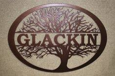 personalized family tree metal wall art