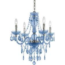 naples 4 light blue mini chandelier