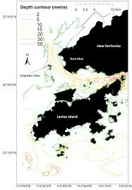 2 Depth Contours Of Western Hong Kong Waters Generated With