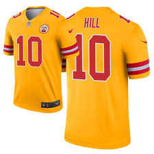 Chiefs Legend Jersey Hill Tyreek Inverted City Kansas Gold