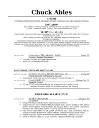 analytical chemist resume