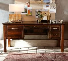 pottery barn home office furniture. bowry reclaimed wood desk pottery barn home office furniture