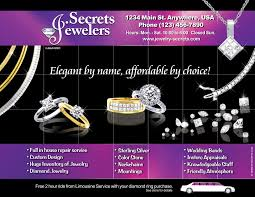 ad sample jewelry limousine deal ad sample advertisement jewelry secrets