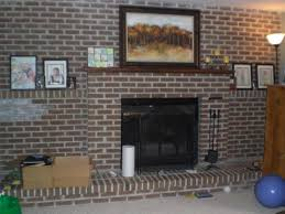 fireplace awesome brown brick fireplace decorating ideas a very unique simple and easy to