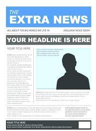 Newspaper Book Report Template Editable Newspaper Template Portrait Inside Page News Report