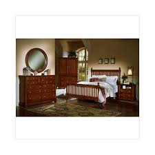 Vaughan-Bassett Cottage Collection Slat Poster Bed Bedroom Set in ...