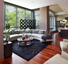 Living Rooms With Area Rugs Circle Couch In Living Room Contemporary With Area Rug Accent Pillows