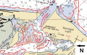 Barnegat Inlet Nj 0 M Contour Lines At Mllw Of Sdb
