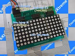 led moving message display using avr atmega8 the 15×7 smart led board