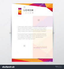 Graphic Designer Letterhead Examples Trendy Multicolored Letterhead Design Template For Business