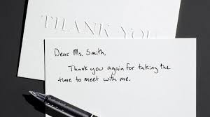 Awesome Collection Of Thank You Card Job Interview Example Job