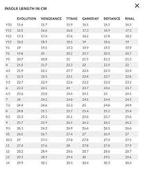 Nfinity Evolution Size Chart Nfinity Vengeance Cheer Shoe Pair