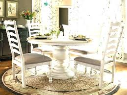 distressed white round dining table set sets and chairs rustic room kitchen astonishing w