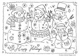 Small Picture Snowman Colouring Page
