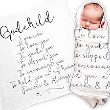 Goddaughter Quotes Cool Godchild Gift Quote Baby Swaddle Blanket Christening Baptism Gift