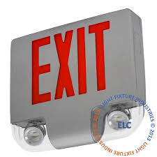 high end cast aluminum all led exit sign with emergency lights