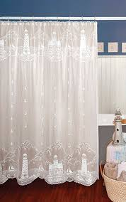 lighthouse shower curtain heritage lace coastal collection 6140w oc