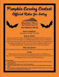 Pumpkin Carving Contest Flyers 2013 Pumpkin Carving Contest Official Rules Flyer Raleighhillsortho