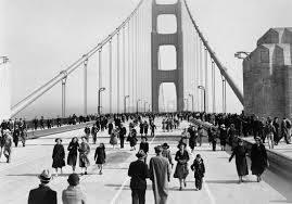 Image result for construction on the Golden Gate Bridge completed