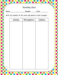 simile and metaphor worksheet : polskidzien