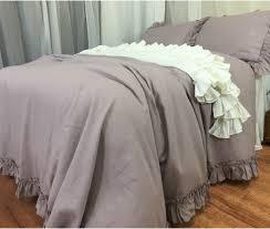 fabulous duvet cover for your bedroom design orchid linen duvet cover with vintage ruffles