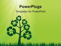Powerpoint Template A Recycling Sign With Water In The