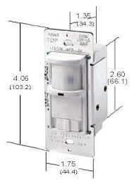 leviton wall switch pir ocuppancy sensor lighting controls decora wall plate switch dimension