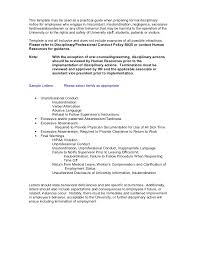 Written Verbal Warning Sample Template Disciplinary Lettersexamples Gables
