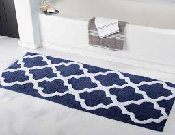 bathroom rug runner 24x60 with navy color