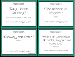 writing to persuade in steps practice persuasive techniques task cards