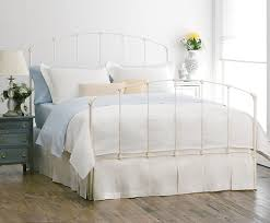 white metal queen bed.  Queen Rutherford Original Iron Bed Antique White Queen For Metal Bed N