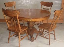 oak pedestal dining room set