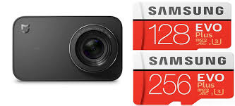 samsung 128gb evo plus. xiaomi mijia wifi action camera \u0026 samsung evo plus micro sd 128gb/256gb at @zapals 128gb evo