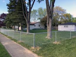 chain link fence installation. Plain Chain This Galvanized Chain Link Fence Was Installed For A Madison Heights  Homeowner Who Wanted Close Off Their Yard Dog Mission Accomplished On Chain Link Fence Installation O