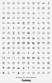 Web Design Icon Psd 150 Outlined Icons Psd Ai Svg Webfont Web Icon Vector
