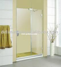 tempered glass shower room without frame looks more clear very easy install one sliding door stainless steel hinges