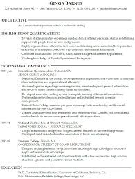 Cover Letter Resume Objective Examples College Students For