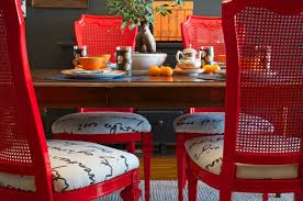 diy ideas spray paint and reupholster your dining room chairs eclectic dining room