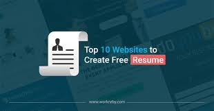 Top 10 Websites To Create Free Resume Worknrby