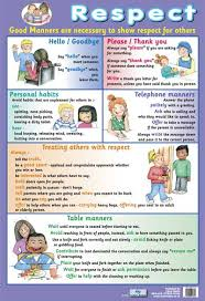 respect good manners children s poster psychology professional  respect good manners children s poster