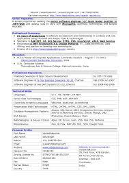 Best Sample Resume For Experienced Software Engineer Fresh Sample