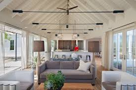 for example you can choose track lighting for vaulted ceiling in your living room cable lighting is also good choice for you no matter the lighting you