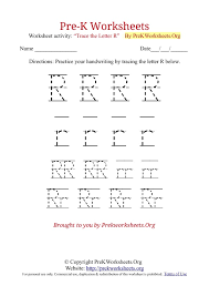 Pre-K Tracing Worksheet R-click to find the rest | Education ...
